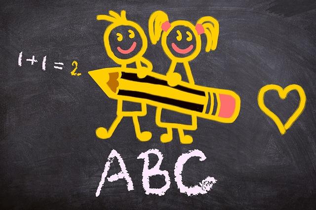 ilustrace školáků
