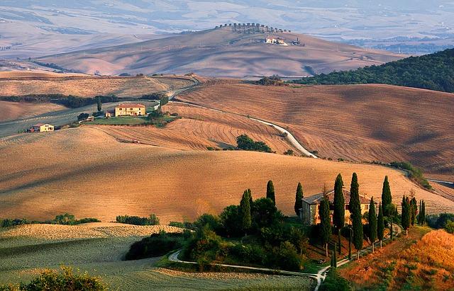 toskánská krajina