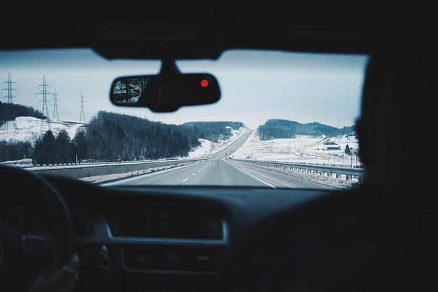 jízda v autě