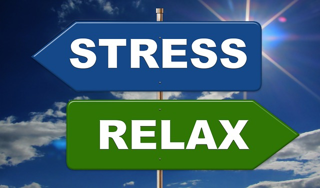 křižovatka stresu a relaxu